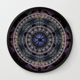 Modern mandala with tribal patterns Wall Clock