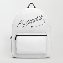 Mustafa Kemal Ataturk sign Backpack