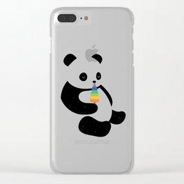 Panda Dream Clear iPhone Case