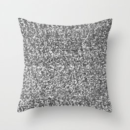 Silver sequin   Throw Pillow