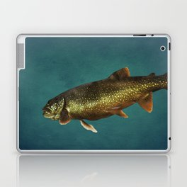 Trout on Teal Blue Laptop & iPad Skin