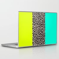 the national Laptop & iPad Skins featuring Leopard National Flag XI by M Studio