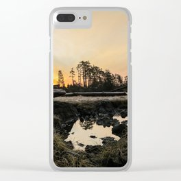 Frozen Sunrise Clear iPhone Case