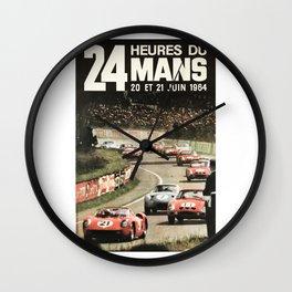 Le Mans poster, 1964, 24hs Le Mans, original vintage poster Wall Clock