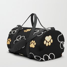 dog pawprint tracks background pet Duffle Bag