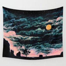 Moon Horror Night ft Gashadokuro Wall Tapestry