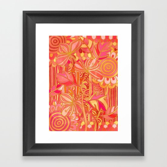 Drawn into the Garden Framed Art Print