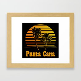 Punta Cana Dominican Republic Sunset Palm Trees Framed Art Print