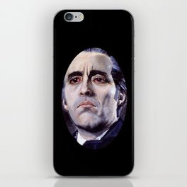Christopher Lee as Dracula: He is the embodiment of all that is evil. iPhone Skin
