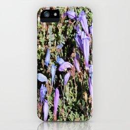 road trip, flowers, high altitude, blue, purple iPhone Case