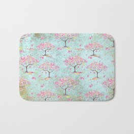 Spring Flowers - Cherry Blossom  Tree Pattern Bath Mat