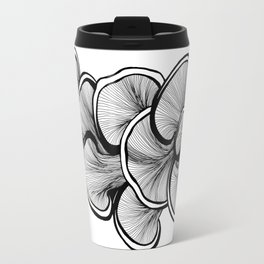 Mushrooms in black and white Travel Mug