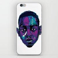 kendrick lamar iPhone & iPod Skins featuring Control - Kendrick Lamar by SmartyArt Chick