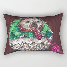 Holiday Sweater Crochet Critter Rectangular Pillow