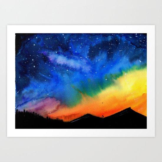 Galaxy in the Sky Art Print