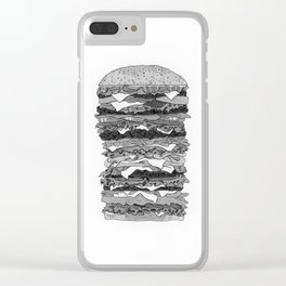 Burger Pile Clear iPhone Case