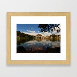 What A Beautiful Day At Sylvian Lake Framed Art Print