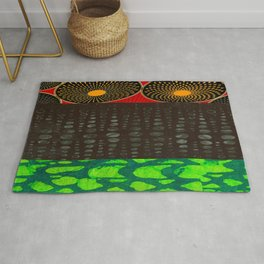 Pan African Flag Collage Rug
