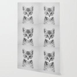 Kitten - Black & White Wallpaper