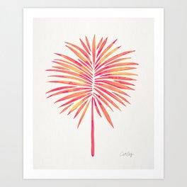 Tropical Fan Palm – Pink Palette Art Print