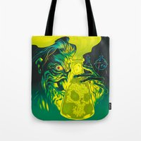 mad Tote Bags featuring MAD SCIENCE! by BeastWreck