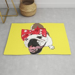 She Persisted.  Rosie the Bulldog Rug