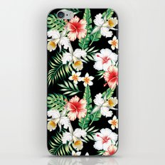 hibiscus orchid pattern iPhone & iPod Skin