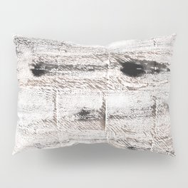 Ghost white abstract watercolor Pillow Sham