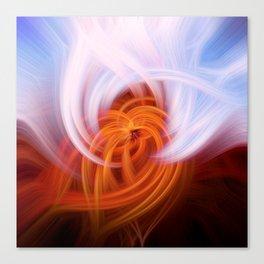Heaven And Hell Light Fibers Canvas Print