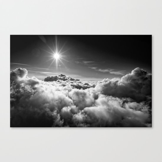 Clouds Black & White Canvas Print
