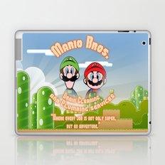 Super Mario Bros. Drain Cleaning & Plumbing Service Laptop & iPad Skin