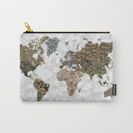 CAMO WORLD ATLAS MAP (white) Carry-All Pouch
