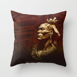 First Peoples Power - Woodland -red Throw Pillow