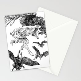 angels in the upfield Stationery Cards