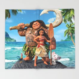 Moana 3 Throw Blanket