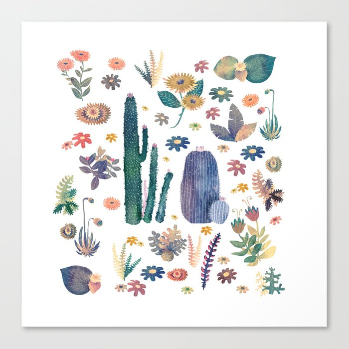 cactus king and Queen of the nature!! Canvas Print