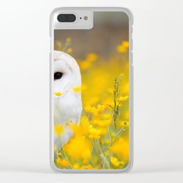 Little Owlet in Flowers (Color) Clear iPhone Case