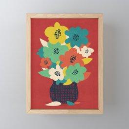 Paper Flowers Framed Mini Art Print