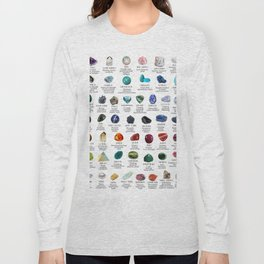 crystals gemstones identification Long Sleeve T-shirt