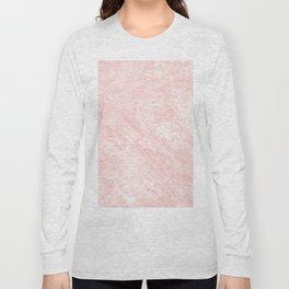 Blush pink white elegant modern marble Long Sleeve T-shirt