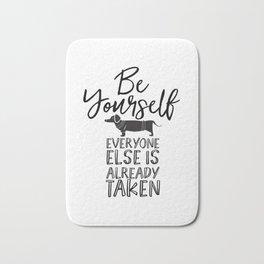 Be Yourself Daschund Bath Mat