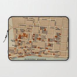 Vintage Map of Hamilton Bermuda (1922) Laptop Sleeve