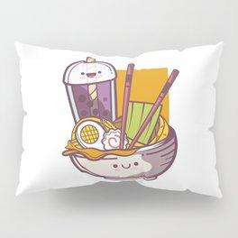 Boba Bubble Tea Miso Ramen Pillow Sham