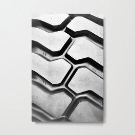 Black rubber tire background Metal Print
