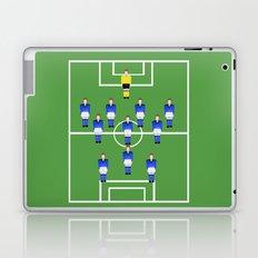 Football Soccer sports team in blue Laptop & iPad Skin