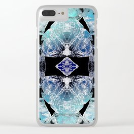 Turquoise Mandala-Throat Chakra Clear iPhone Case