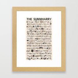 The Summharry Framed Art Print