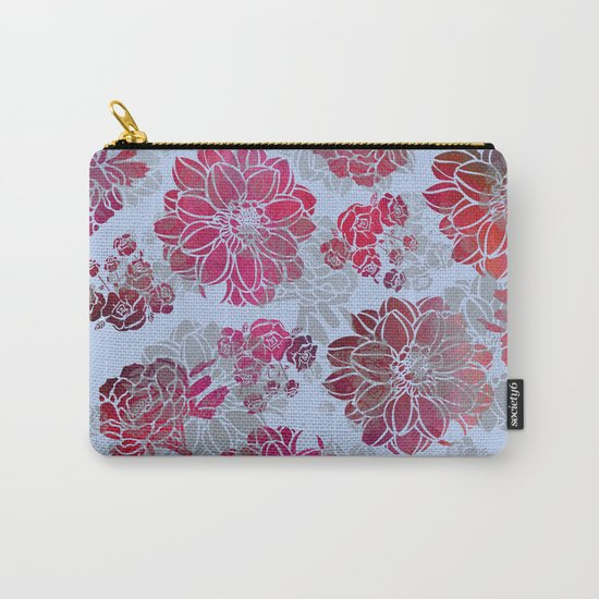 Flower Pattern Design Carry-All Pouch