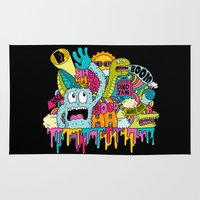 dino Area & Throw Rugs featuring Dino Jam by Chris Piascik