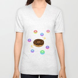 donut alien sustinence Unisex V-Neck